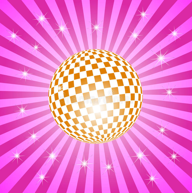 Discoball with stars vector illustration