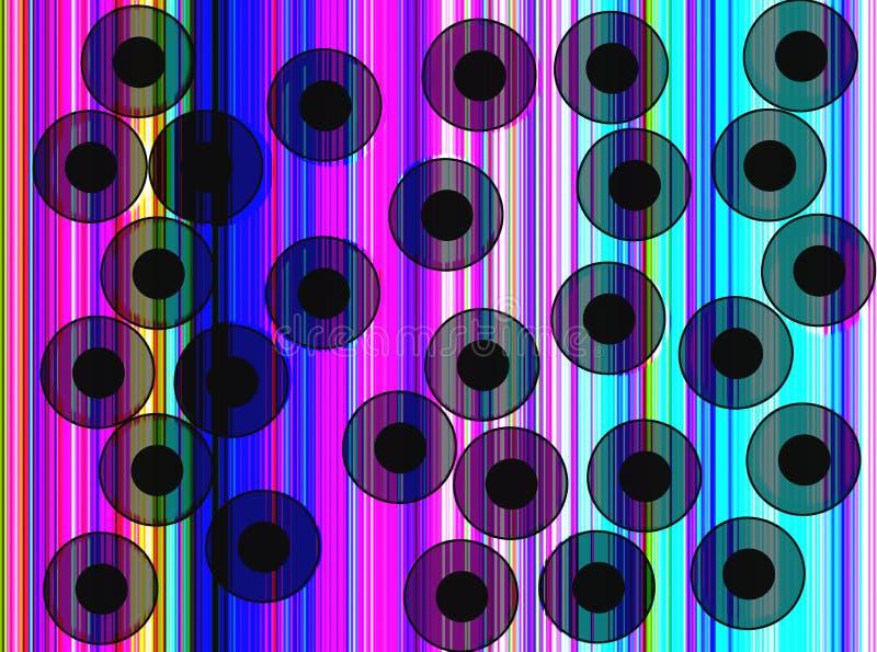 Discoball uitstekende achtergrondonduidelijk beeldgevolgen vector illustratie