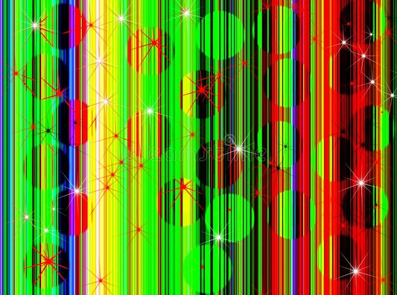 Discoball uitstekende achtergrondonduidelijk beeldgevolgen stock illustratie