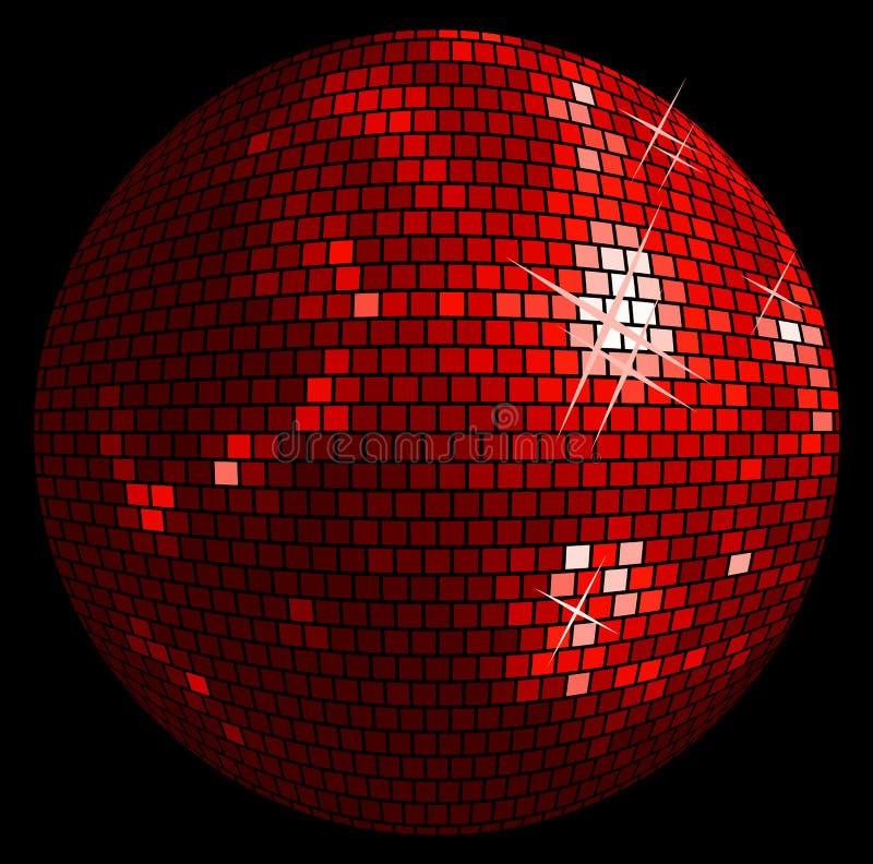 Discoballhintergrund lizenzfreie abbildung