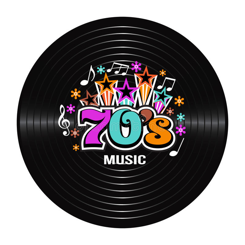 discographie de la musique 70s illustration de vecteur