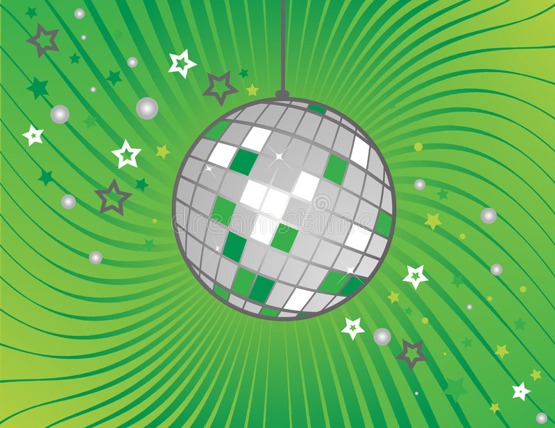 Discokugel auf Grün vektor abbildung