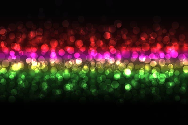 discolights piękna noc royalty ilustracja