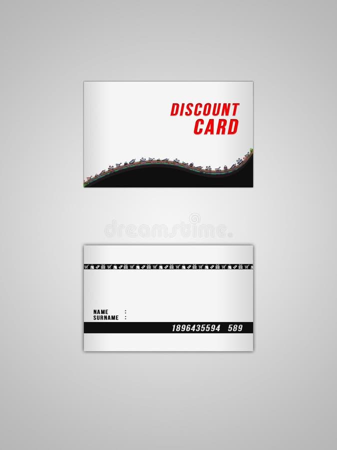 Disconte o cartão foto de stock