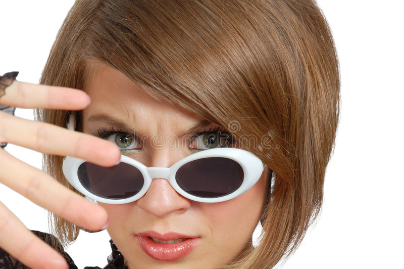 Download Discontent Young Woman In Sunglasses Stock Photo - Image: 5360490