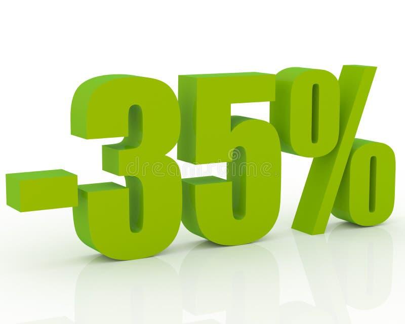 disconto de 35% ilustração do vetor