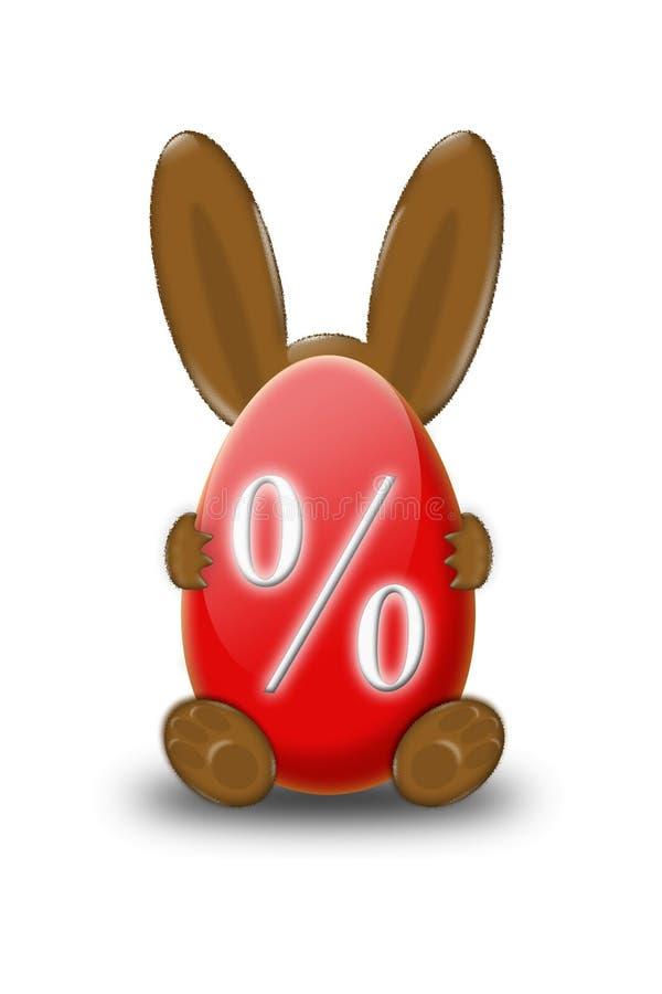 Disconto do coelho de Easter ilustração do vetor