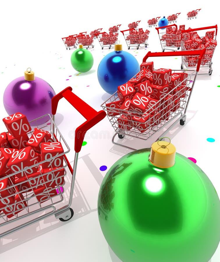 Disconto do Natal ilustração stock