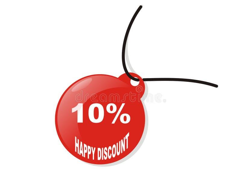 Disconto feliz de 10% ilustração stock