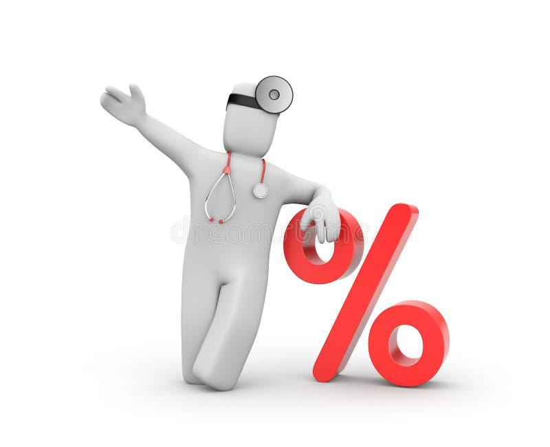 Disconto para o serviço médico ilustração do vetor