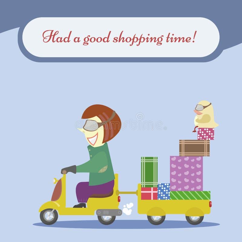 Discontos, compra, venda e os melhores preços ilustração do vetor
