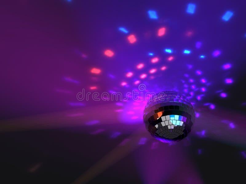 Discopartei-Spiegelballhintergrund lizenzfreie abbildung
