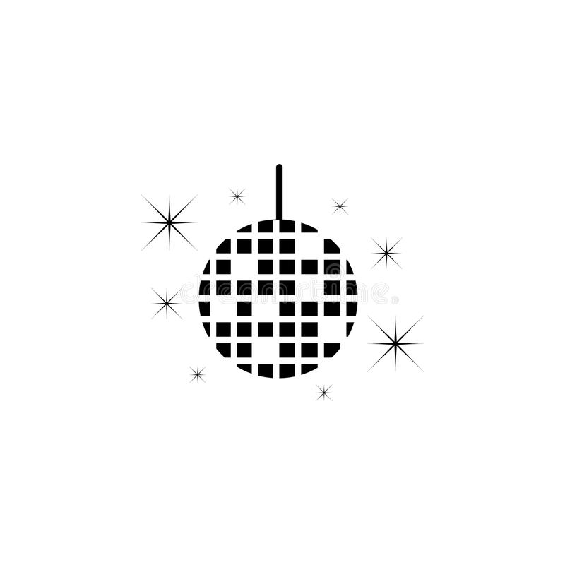 Discoperlenikone Element der Parteiikone für bewegliche Konzept und Netz apps Ausführliche Discoperlenikone kann für Netz und Mob stock abbildung