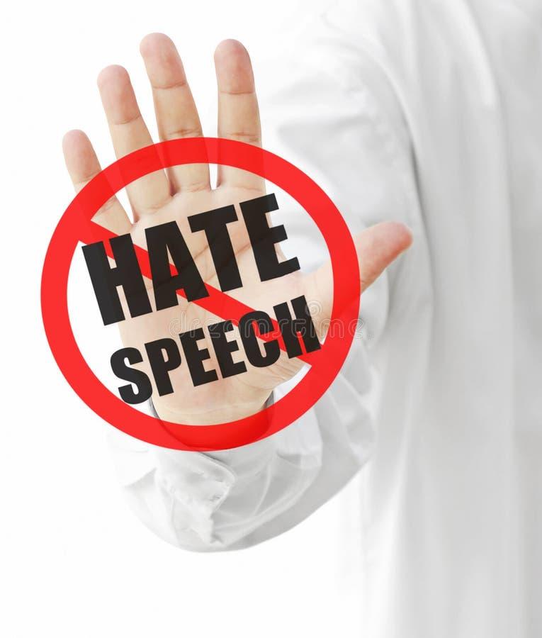Discorso di odio fotografia stock libera da diritti