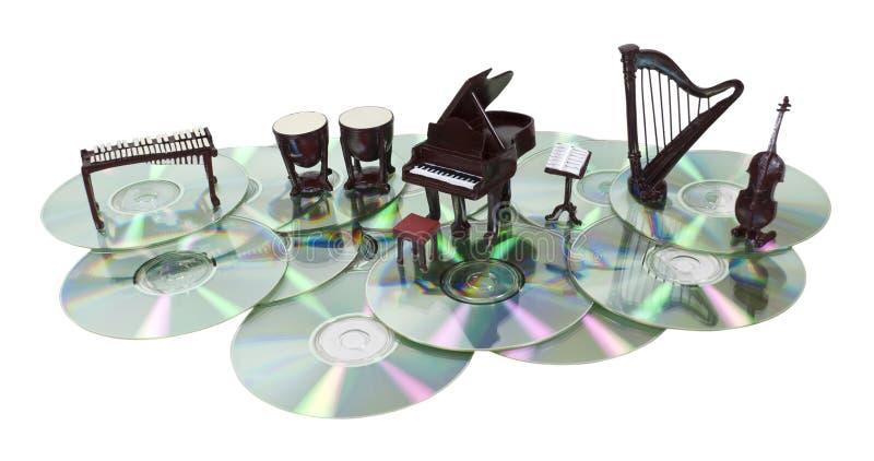 Discos da música imagem de stock