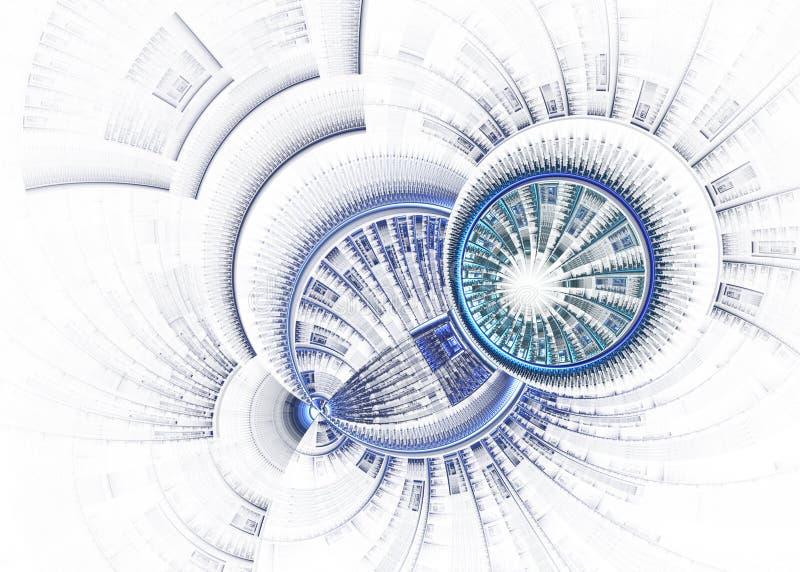 Discos de la tecnología ilustración del vector