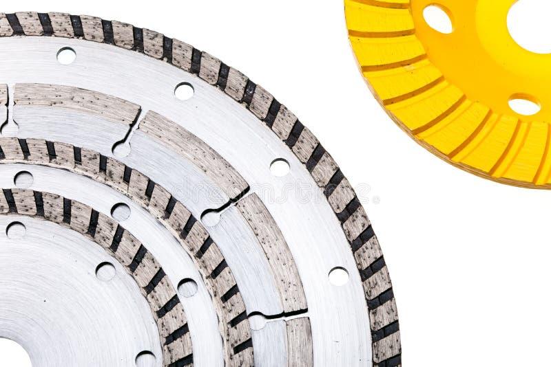 Discos del diamante para el corte concreto y la abrasión imágenes de archivo libres de regalías