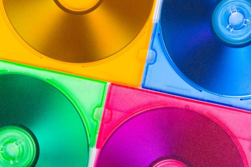 Discos del ordenador en rectángulos multiciolored foto de archivo libre de regalías
