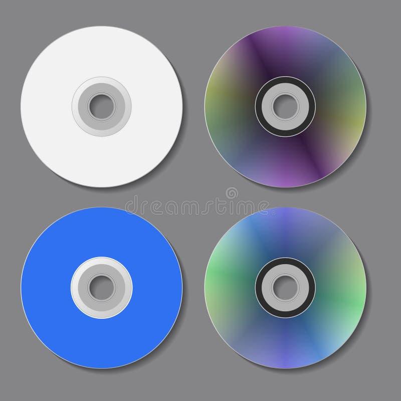 Discos do CD de DVD Ilustração do vetor ilustração stock