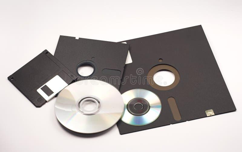 Discos flexíveis imagens de stock