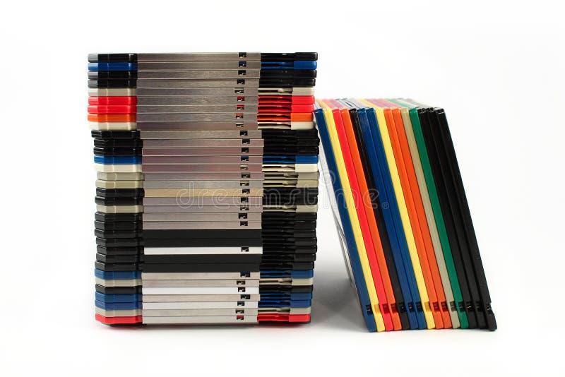 Discos Flexíveis Nas Pilhas Fotografia de Stock Royalty Free