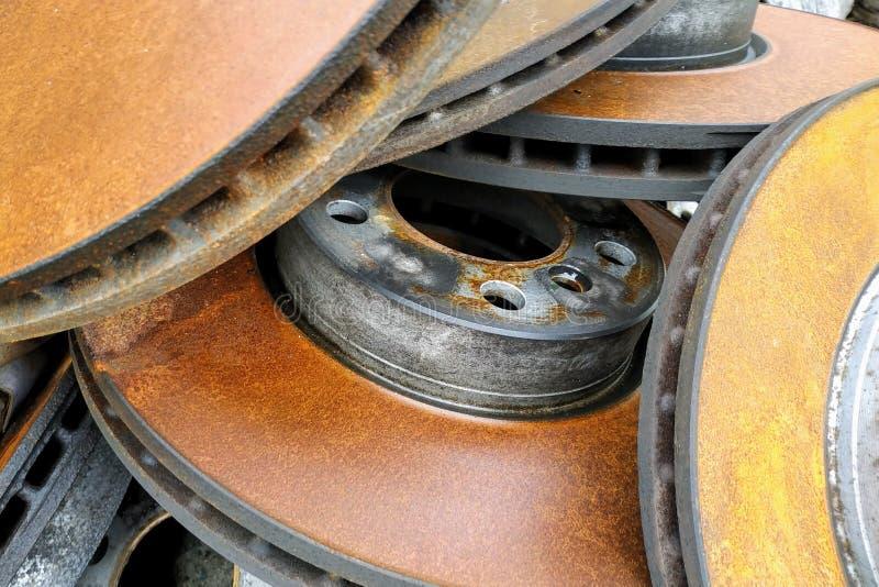 Discos oxidados del freno foto de archivo