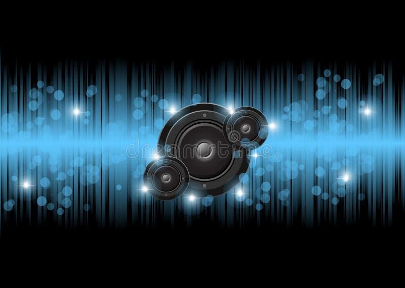 音乐和迪斯科背景 皇族释放例证