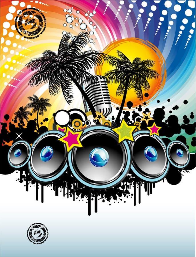 discoteque wydarzenia ulotki muzyka ilustracja wektor