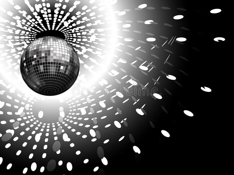 Discotheque. Lights and disco globe royalty free illustration