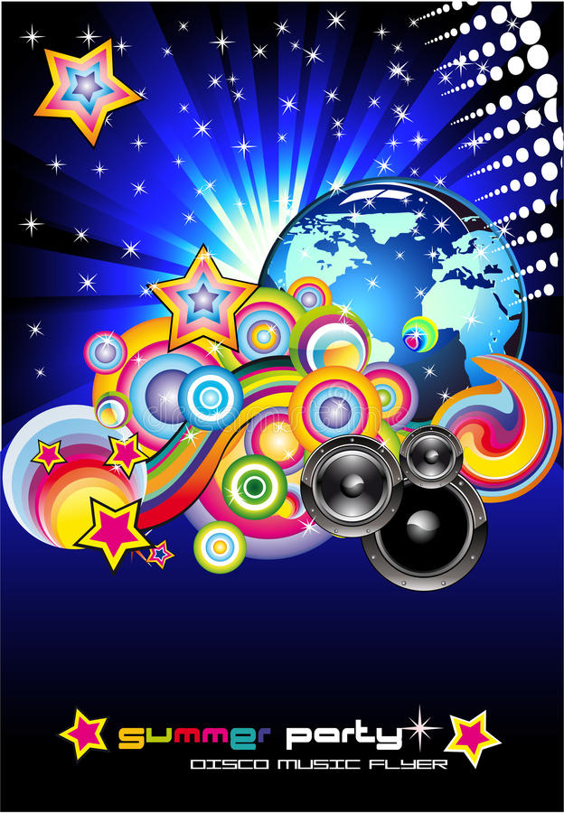 Download Discotheque Colorful Background For Flyers Stock Vector - Illustration: 11960320