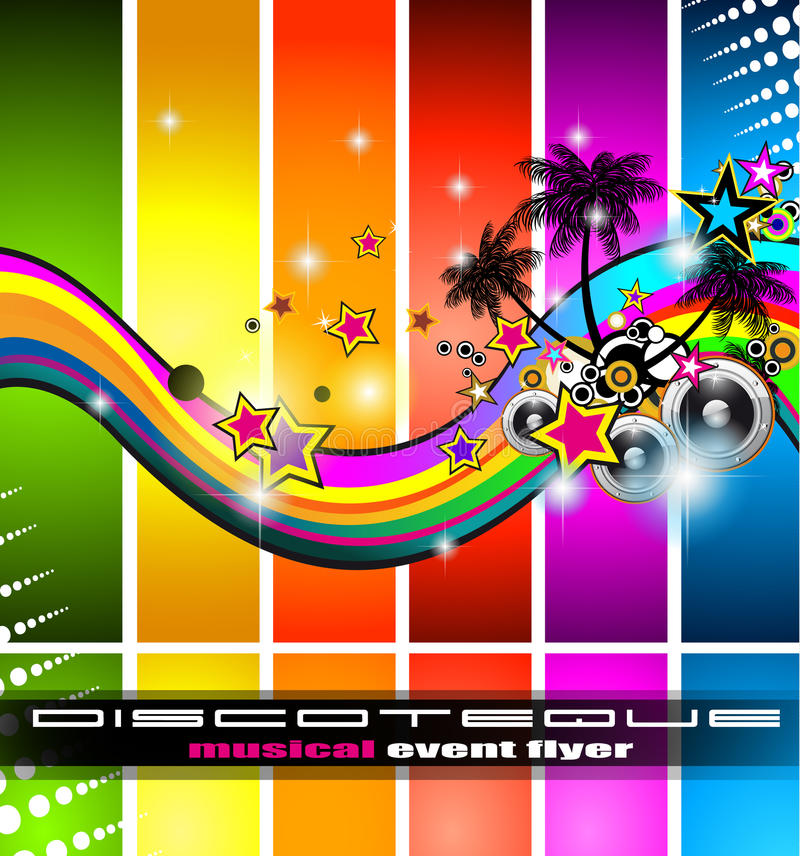 Discotheque Flyer Tor Music Event Royalty Free Stock Photos
