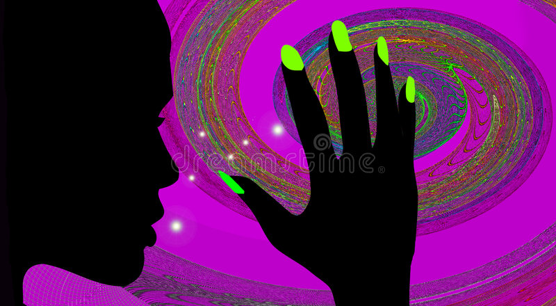 Discotheque Girl Royalty Free Stock Images