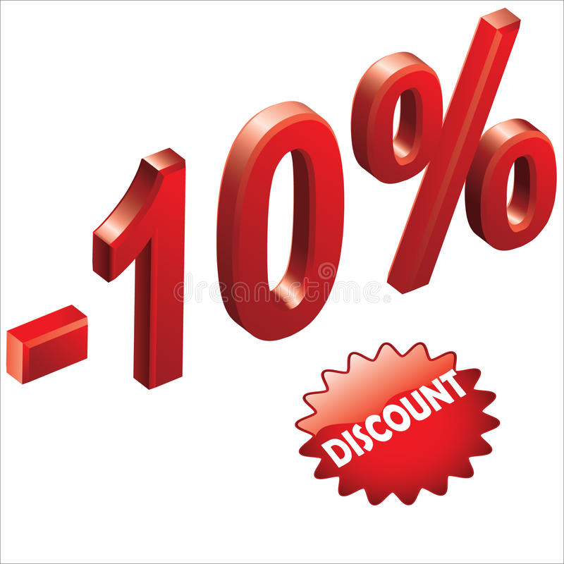 Download Discount 1 stock vector. Illustration of promotion, image - 17295296