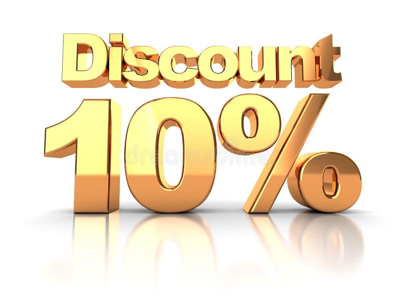 Discount 10 percent vector illustration