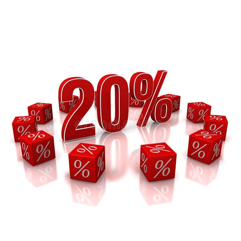 Download Discount 20 stock illustration. Illustration of render - 26564247