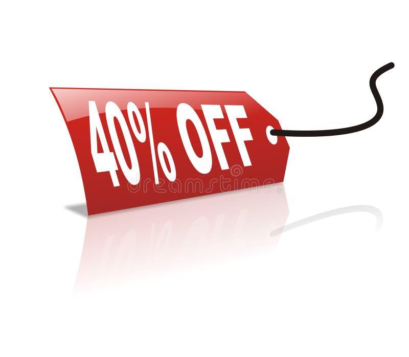 discount 40 z persentage royalty ilustracja
