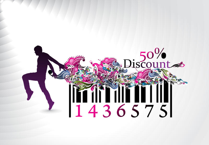 Discount banner stock images
