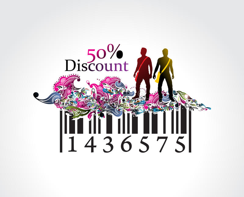Discount banner royalty free stock photo