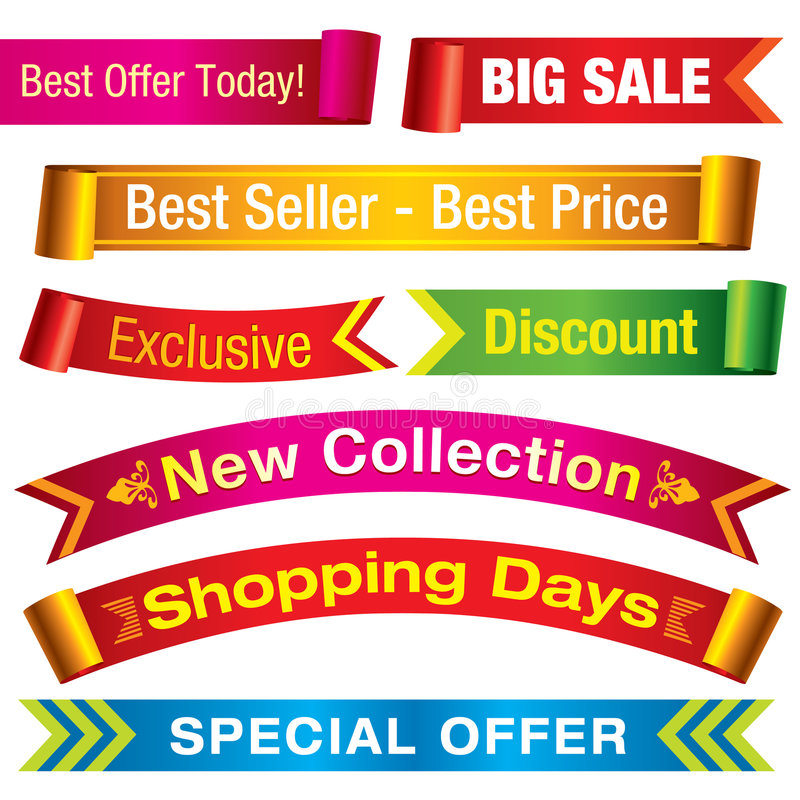 Download Discount banners stock vector. Image of allowance, banner - 9262203