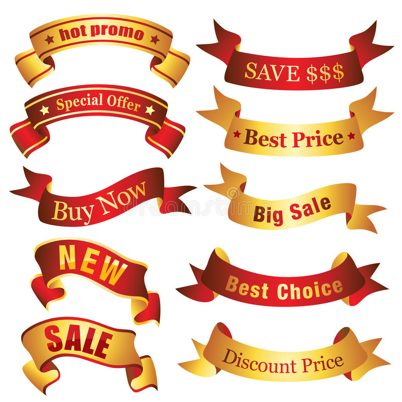 Free Discount Banners Stock Images - 9319944
