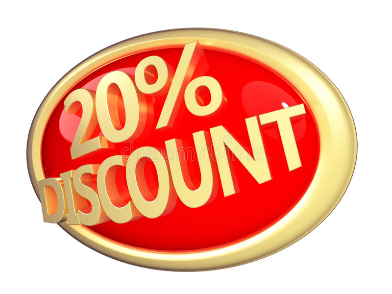 Download Discount button stock illustration. Image of reflection - 20059533