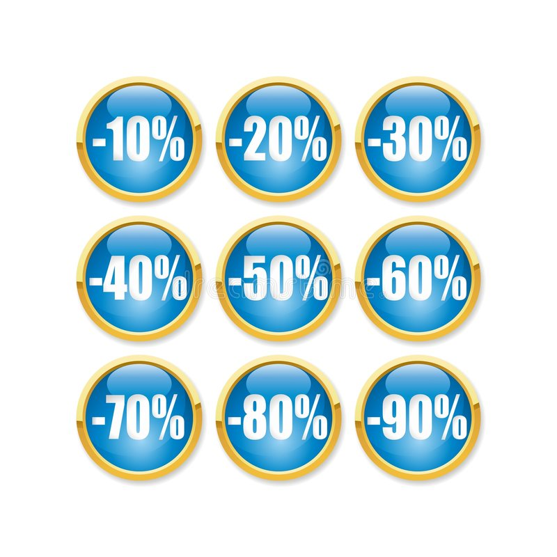 Download Discount button stock vector. Image of business, check - 7804335