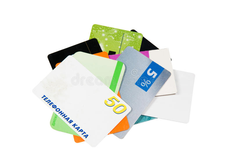 Discount cards stock photo