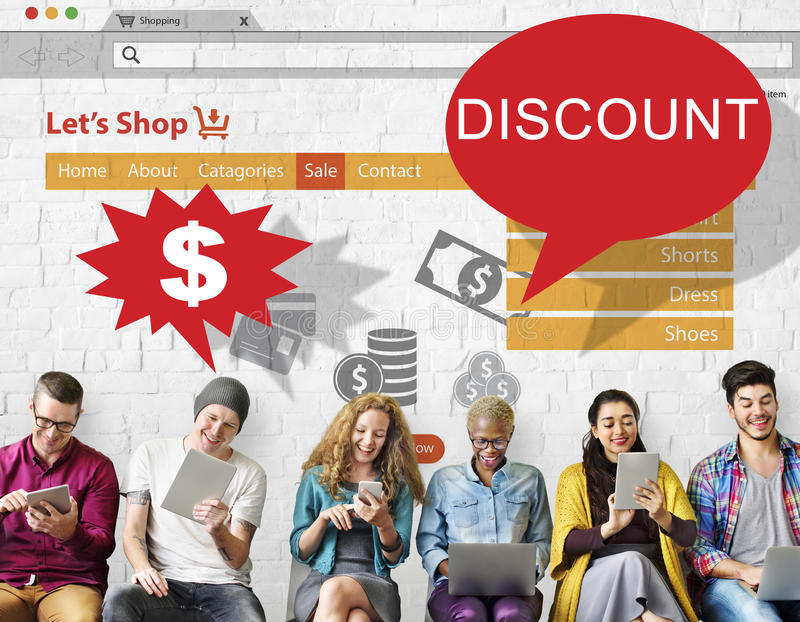 Discount Clearance Hot Price Promotion Concept royalty free stock photos