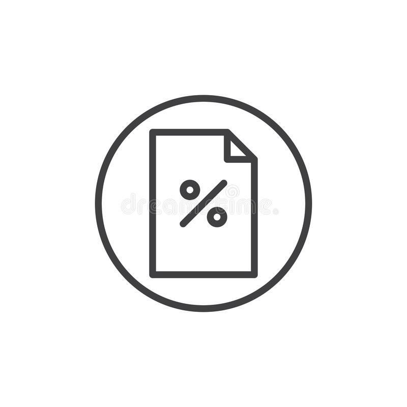 Discount coupon line icon royalty free illustration