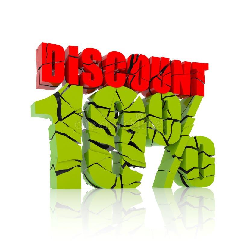 10% discount icon royalty free illustration