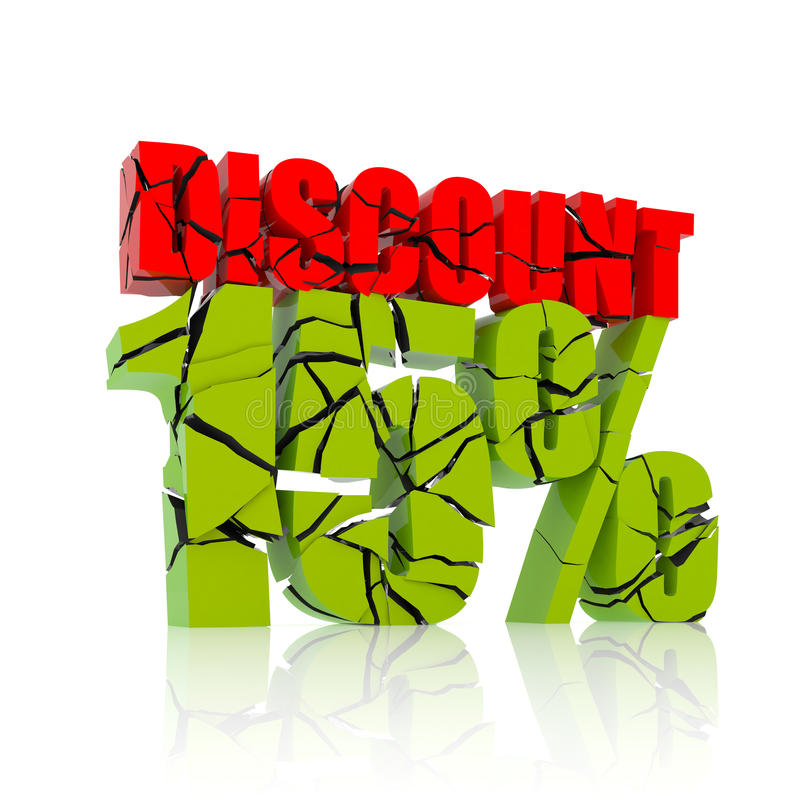 15% discount icon stock illustration