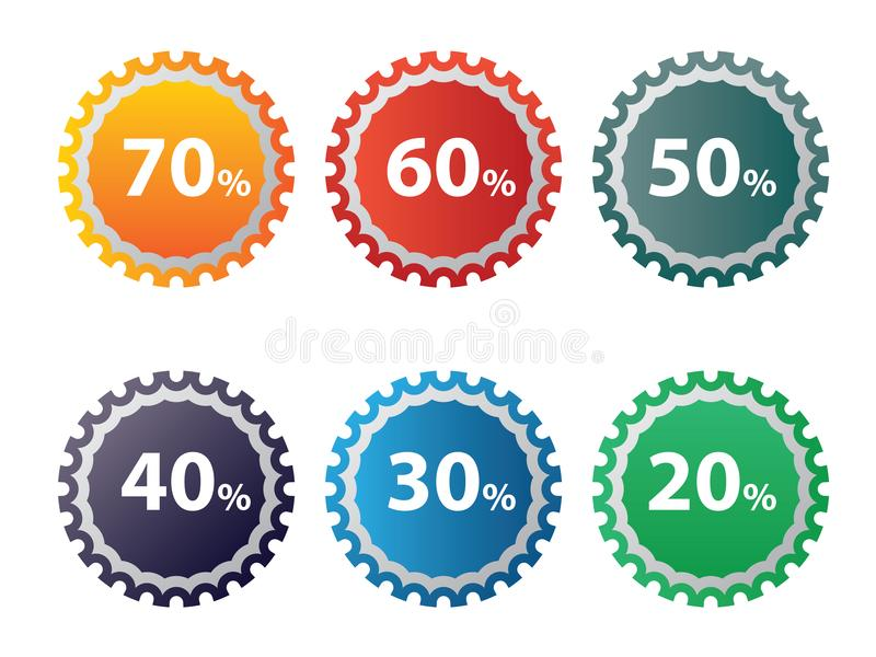 Discount Icon Set Free Stock Images