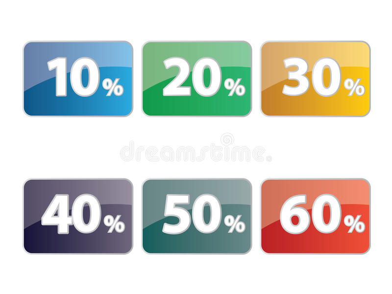 Discount icon set stock illustration
