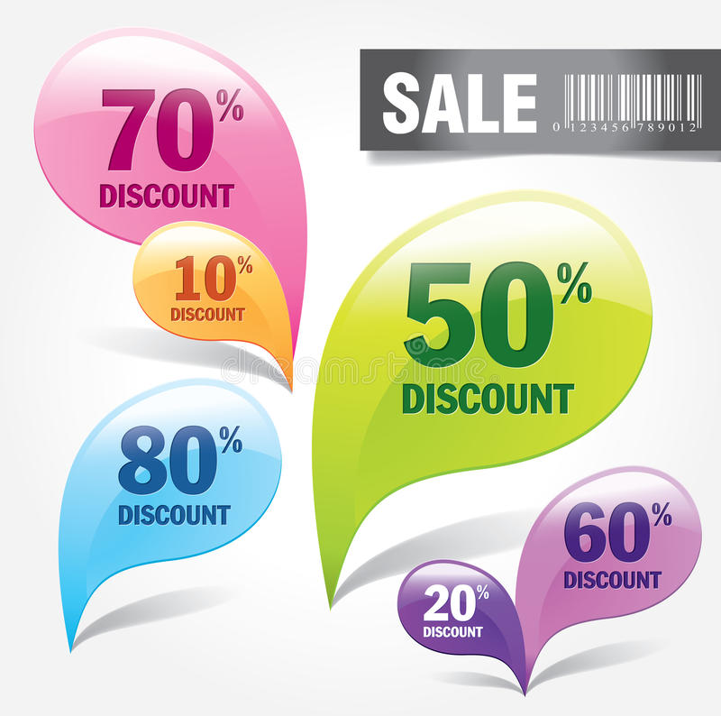 Discount labels. & tags for promotion use